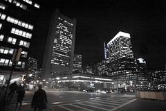 Night Lights (monkeyyyyyy) Tags: city people boston night buildings point lights downtown fort district massachusetts busy intersection tall financial
