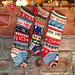 The middle stocking was made for me in 1954. I made the others in 1986 for Ev and Emmett. Martha Foley