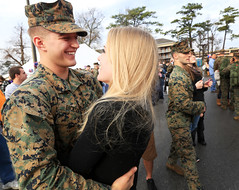 Together Again (United States Marine Corps Official Page) Tags: family brown green reunion us nc couple romance hugs militaryfamily 24thmeu hospitalcorpsman marineexpeditionaryunit marinefamily marinecorpsbasecamplejeune marinecouple marineshugging