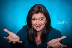 Presenting ..... ME & my new hair color! (Andrea Garza ~) Tags: portrait fun flash humor gel selfie alienbees strobist cactustrigger cactusv5