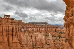 The Sisters (jametalb) Tags: hdr utah landscape nature brycecanyon sky overcast landscapes cloudy thesisters