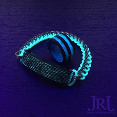 Check out the awesome ring I got from @tahoevision !! Blue glow with a blue and white swirl liner  #jenniferrayjewelry #jrj #carbonfiber #gitd #edc #everydaycarry #chainmaille #ring #bracelet #mensfashion #menstyle #wristporn #glowinthe (JenniferRay.com) Tags: instagram carbon fiber jewelry exclusive jrj jennifer ray paracord custom