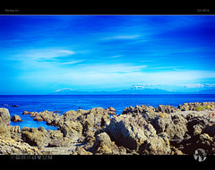 Ice Blue (tomraven) Tags: mountains snow snowcapped blue sea sky bluesea bluesky ship water coast coastal landscape seascape tomraven aravenimage newzealand q32016 pentax kr
