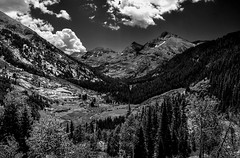 high mountain valley (SILBECL) Tags: blackwhite colorado mountain landscape valley raggeds wilderness yulecreek marble