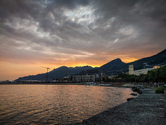 Salerno Sunset... (Minieri Nicola) Tags: sunset landscape travel paesaggio tramonto salerno lungomare