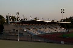 The Stadium | Twilight in the Park | Crystal Palace-1 (Paul Dykes) Tags: 1977 jubileestand crystalpalacepark crystalpalace park england uk london dinosaurcourt evening twilight crepuscular eveninglight crystalpalacenationalsportscentre athletics track field lights stadium