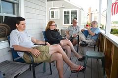 On The Cottage Porch (Joe Shlabotnik) Tags: verne higginsbeach sue diego rich maine july2016 2016 afsdxvrzoomnikkor18105mmf3556ged
