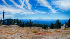 Off Season (johnrudy3) Tags: blue bluesky mounthood chairlift lift skilift trees tree