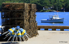 Wiscasset, Maine (pandt) Tags: bouy lobster trap boat water marina wiscasset maine dock pot sheepscot river outdoor canon 7d eos coastal coast buoyant
