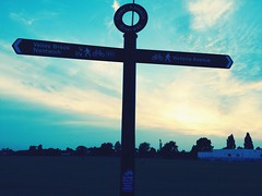 Signpost shot 2. (ryangreen10) Tags: britain clouds sky cheshire england signpost crewe sign