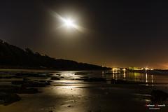 Fully moon (Antonio Camelo) Tags: nikon night noche moon luna beach photo playa reflections reflejos roca rock ocean oceano