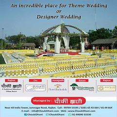 Wedding place, Theme Wedding, Designer Wedding (ChoukiDhani) Tags: restaurant hotel motel resort highwayhotel event function fun celebration wedding marriage hall business meet multicuisine rajasthaniresort discotheque gamezone dinnighall themewedding designerwedding