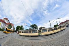 LOWA ET54 #1538+1361+1362 Straenbahnmuseum Dresden e.V. (3x105Na) Tags: lowa et54 153813611362 strasenbahnmuseum dresden ev strasenbahnmuseumdresden stadtrundfahrt stadtfest sachsen saksonia drezno deutschland germany niemcy tram tramwaj strassenbahn