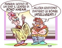 BokoBUM (Moise-Creativo Galattico) Tags: editoriali moise moiseditoriali editorialiafumetti giornalismo attualit satira vignette bokoharam bum