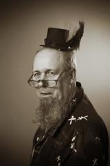 Andrew (giltay) Tags: topw topwppl torontophotowalks torontophotowalksportraitsandpotluck andrew blackandwhite blackwhite sepia takumarsmc55mmf18 hat portrait