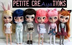 blythecon europe 2016 (Aya_27) Tags: blythe petitecreayations bear kitty overalls dress bunny pink blue suspender poisongirl custom vainilladolly rakerusensei