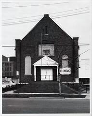 Front of American Legion post, 431 E. South, Kalamazoo, c1982 (kplcommons) Tags: building american legion bingo cars road architecture awning kalamazoopubliclibrary sarah hultmark