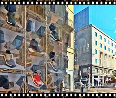 strada facendo (tra le mie foto migliori) Tags: reflections riflessi architecture milano viamanzoni montenapoleone scarpe shoes vetrina paolojeranphotographer