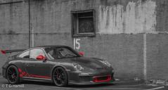 Black & White & Red (terham47) Tags: philadelphia selectivecoloring sportscar porshe