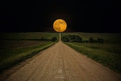 """Road To Nowhere- Supermoon"" By Aaron Groen  ---- Supermoon rises over this road to nowhere in eastern South Dakota.  prints - http://homegroenphotography.com/featured/road-to-nowhere-supermoon-aaron-j-groen.html  #moon #supermoon #southdakota #hifromsd # (HomeGroenPhotography) Tags: instagramapp iphoneography uploaded:by=instagram"