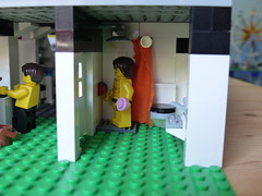 Police Station (Tommaso Salici) Tags: tommasosalici lego moc police polizia jail prison carcere prigione bath bagno shower doccia sink lavabo lavandino soap sapone wc policestation