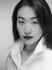 purchase girls-82 (jerseytom55) Tags: pentax645z 645z priolite blackandwhite beautifulwoman beautifulasianwoman whiteshirt lips highkey headshot