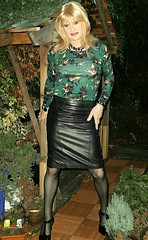 Same Theme (Amber :-)) Tags: black leather pencil skirt tgirl transvestite crossdressing