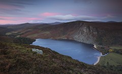 Lough Tay Sunrise (Kevin.Grace) Tags: ireland wicklow tay lough lake landscape sunrise pink clouds