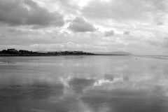Beach reflections (kailhen) Tags: calm seascale morning black combe reflections sand sea sky and white mono outdoors nature national park monochrome