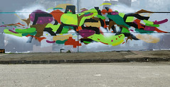 Shapes and letters (Rashe...) Tags: rashe shapes letters wall spraypaint cans graphic graffiti