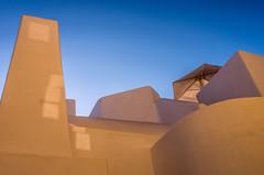 Villa (Kelly's Eye Pics) Tags: abstract villa up blue umbrella imerovigli santorini greece sky pentaxk5ii 1685mm wall
