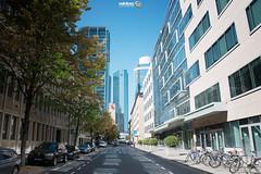 Lichtspiele (Frankfurt - Inner City) (Andy Brandl (PhotonMix.com)) Tags: urban germany deutschland nikon photonmix street reflections windows lines bicycles cars trees skyscrapers lichtspiele shadowsandlight modern