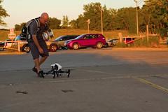 Michigan City Harbor Drone Operator 9-12-2016 8623 (www.cemillerphotography.com) Tags: lakefront lakemichigan sundown dusk nightfall washingtonpark recreation megawatt energy emissions indiana factory smokestack smoke