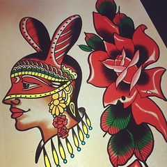 Two drawings available #bunnygirl #dietzelgirl #redrose #miamitattoo #wynwoodtattoos #rosetattoo (conejosagrado) Tags: instagramapp square squareformat iphoneography uploaded:by=instagram rise
