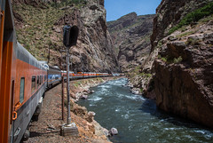 Royal Gorge by Rail (WillJordanPhoto) Tags: trains track canyon signal royal gorge mountain colorado rafting rail road way untion pacific tennessee pass