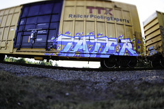 TATER (Revise_D) Tags: railroad art graffiti steel rails tagging freight rolling tater staging revised mul fr8 fr8heaven