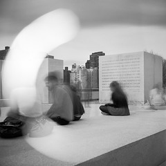 4 Freedoms (Dan Squires) Tags: nyc longexposure lightleak weldingglass fujiacros100 yashicamatem fomadonr09