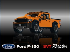 Ford F150 SVT Raptor (lego911) Tags: auto 58th terrain usa ford america truck jumping model lego offroad render dune pickup f150 raptor baja challenge v8 60th cad lugnuts svt moc ldd miniland foitsop lego911 orderbynumbers