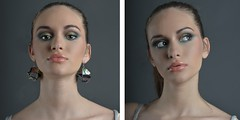 (Viktor make-up) Tags: portrait green beauty up fashion closeup grey close fashionphotography violet makeup lips cosmetics portret  naturalmakeup sminka