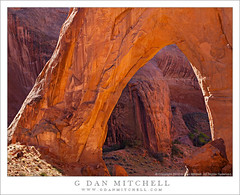 Arch in Morning Light (G Dan Mitchell) Tags: travel red usa southwest broken monument nature rock america landscape utah sandstone arch desert north stock scenic grand canyon willow national staircase bow escalante gulch blm licenseprint