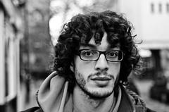 John (76/100) (drmaccon) Tags: street bw john glasses student nikon leicester stranger phd strangerportrait 100strangers