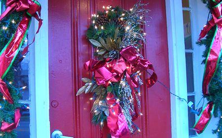 adornos de navidad puerta
