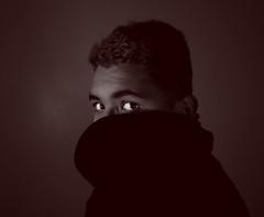 Shyness (babymerman) Tags: portrait selfportrait mystery shy mysterious shyness