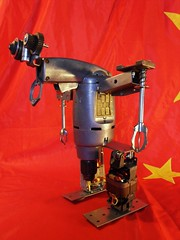 robot Valeria (gille monte ruici) Tags: sculpture art metal robot diy industrial artistic assemblage creation foundobjects recycling selfmade robotics bots tins drill invention industriel recyclage recup robotsculpture recycledrobotsculpture gillemonteruici hijackingobjects