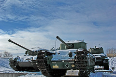 Tanks (LostMyHeadache: Absolutely Free *) Tags: trees winter sky snow clouds canon military automotive vehicles armor guns remembranceday missiles tanks cannons veteransday armoredvehicles davidsmith treads calgaryalbertacanada eos60d
