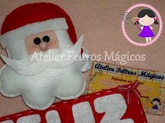 Eu babooo muitooo, amo minhas costurinhas! (Atelier Feltros Mágicos) Tags: natal guirlanda feliznatal feltro papainoel molde atelier tecido enfeite