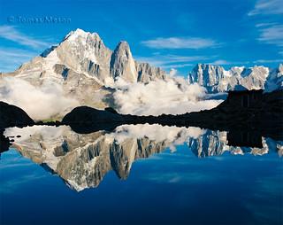 Lac Blanc ( Chamonix) , game of mirrors. _DSC4358 r esf ma