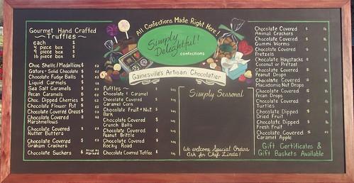 chalk board menu board