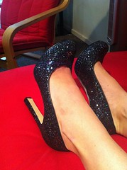 Sparkly shoes at work