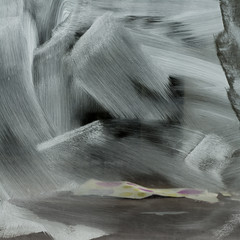 20120325_0220sq (casually, krystina) Tags: window glass paper abstraction whitewash gestures scretchings